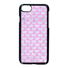 Scales3 White Marble & Pink Colored Pencil (r) Apple Iphone 7 Seamless Case (black) by trendistuff