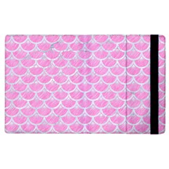Scales3 White Marble & Pink Colored Pencil Apple Ipad 3/4 Flip Case by trendistuff