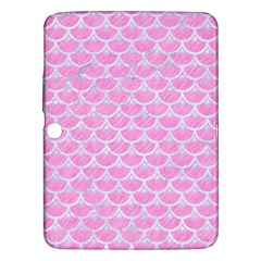 Scales3 White Marble & Pink Colored Pencil Samsung Galaxy Tab 3 (10 1 ) P5200 Hardshell Case  by trendistuff