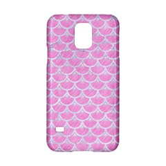 Scales3 White Marble & Pink Colored Pencil Samsung Galaxy S5 Hardshell Case  by trendistuff