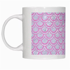 Scales2 White Marble & Pink Colored Pencil (r) White Mugs by trendistuff