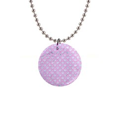 Scales2 White Marble & Pink Colored Pencil (r) Button Necklaces by trendistuff