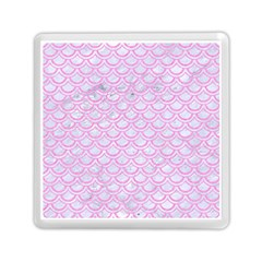 Scales2 White Marble & Pink Colored Pencil (r) Memory Card Reader (square)  by trendistuff