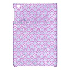 Scales2 White Marble & Pink Colored Pencil (r) Apple Ipad Mini Hardshell Case by trendistuff