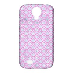 Scales2 White Marble & Pink Colored Pencil (r) Samsung Galaxy S4 Classic Hardshell Case (pc+silicone) by trendistuff