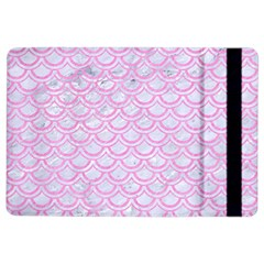 Scales2 White Marble & Pink Colored Pencil (r) Ipad Air 2 Flip by trendistuff
