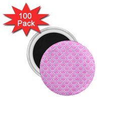 Scales2 White Marble & Pink Colored Pencil 1 75  Magnets (100 Pack)  by trendistuff