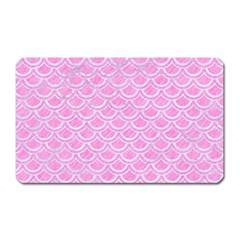 Scales2 White Marble & Pink Colored Pencil Magnet (rectangular) by trendistuff