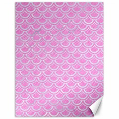 Scales2 White Marble & Pink Colored Pencil Canvas 12  X 16   by trendistuff