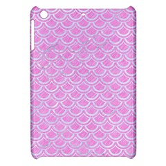 Scales2 White Marble & Pink Colored Pencil Apple Ipad Mini Hardshell Case by trendistuff