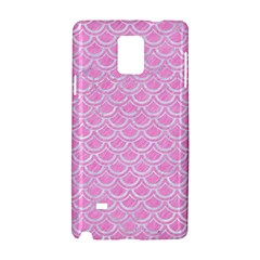Scales2 White Marble & Pink Colored Pencil Samsung Galaxy Note 4 Hardshell Case by trendistuff