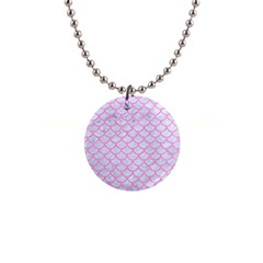 Scales1 White Marble & Pink Colored Pencil (r) Button Necklaces by trendistuff