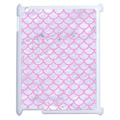 Scales1 White Marble & Pink Colored Pencil (r) Apple Ipad 2 Case (white)