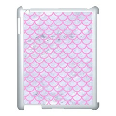Scales1 White Marble & Pink Colored Pencil (r) Apple Ipad 3/4 Case (white) by trendistuff