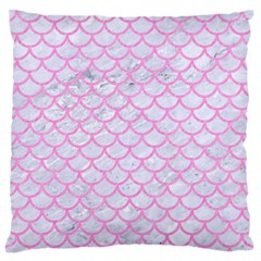 Scales1 White Marble & Pink Colored Pencil (r) Standard Flano Cushion Case (one Side) by trendistuff