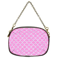 Scales1 White Marble & Pink Colored Pencil Chain Purses (two Sides)  by trendistuff