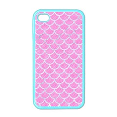 Scales1 White Marble & Pink Colored Pencil Apple Iphone 4 Case (color) by trendistuff