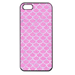 Scales1 White Marble & Pink Colored Pencil Apple Iphone 5 Seamless Case (black) by trendistuff
