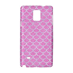 Scales1 White Marble & Pink Colored Pencil Samsung Galaxy Note 4 Hardshell Case by trendistuff