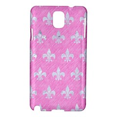 Royal1 White Marble & Pink Colored Pencil (r) Samsung Galaxy Note 3 N9005 Hardshell Case by trendistuff