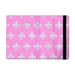 Royal1 White Marble & Pink Colored Pencil (r) Ipad Mini 2 Flip Cases by trendistuff
