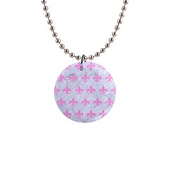 Royal1 White Marble & Pink Colored Pencil Button Necklaces by trendistuff