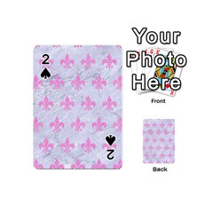 Royal1 White Marble & Pink Colored Pencil Playing Cards 54 (mini)  by trendistuff