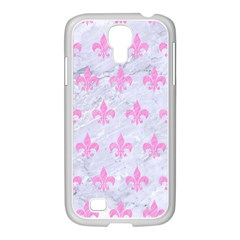 Royal1 White Marble & Pink Colored Pencil Samsung Galaxy S4 I9500/ I9505 Case (white) by trendistuff