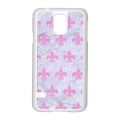 Royal1 White Marble & Pink Colored Pencil Samsung Galaxy S5 Case (white) by trendistuff