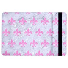 Royal1 White Marble & Pink Colored Pencil Ipad Air 2 Flip by trendistuff