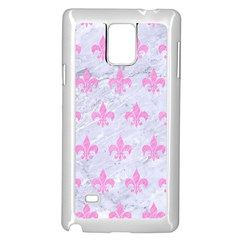 Royal1 White Marble & Pink Colored Pencil Samsung Galaxy Note 4 Case (white) by trendistuff