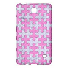 Puzzle1 White Marble & Pink Colored Pencil Samsung Galaxy Tab 4 (8 ) Hardshell Case  by trendistuff