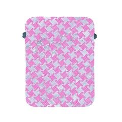 Houndstooth2 White Marble & Pink Colored Pencil Apple Ipad 2/3/4 Protective Soft Cases by trendistuff