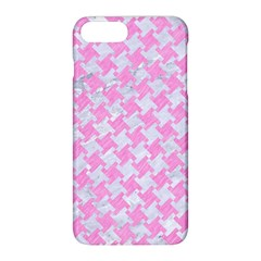 Houndstooth2 White Marble & Pink Colored Pencil Apple Iphone 8 Plus Hardshell Case by trendistuff