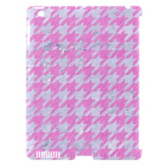 Houndstooth1 White Marble & Pink Colored Pencil Apple Ipad 3/4 Hardshell Case (compatible With Smart Cover) by trendistuff