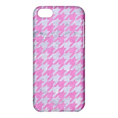 Houndstooth1 White Marble & Pink Colored Pencil Apple Iphone 5c Hardshell Case by trendistuff