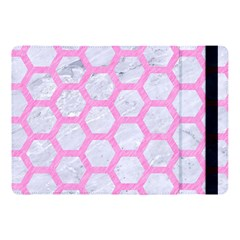 Hexagon2 White Marble & Pink Colored Pencil (r) Apple Ipad Pro 10 5   Flip Case by trendistuff