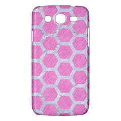 Hexagon2 White Marble & Pink Colored Pencil Samsung Galaxy Mega 5 8 I9152 Hardshell Case  by trendistuff