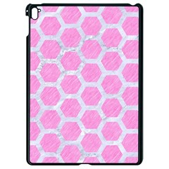 Hexagon2 White Marble & Pink Colored Pencil Apple Ipad Pro 9 7   Black Seamless Case by trendistuff