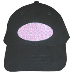 Hexagon1 White Marble & Pink Colored Pencil (r) Black Cap by trendistuff