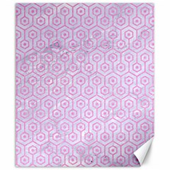 Hexagon1 White Marble & Pink Colored Pencil (r) Canvas 20  X 24   by trendistuff