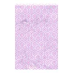 Hexagon1 White Marble & Pink Colored Pencil (r) Shower Curtain 48  X 72  (small)  by trendistuff