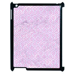 Hexagon1 White Marble & Pink Colored Pencil (r) Apple Ipad 2 Case (black) by trendistuff