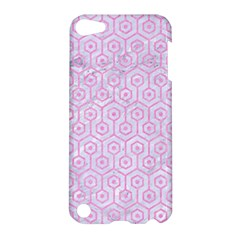 Hexagon1 White Marble & Pink Colored Pencil (r) Apple Ipod Touch 5 Hardshell Case by trendistuff