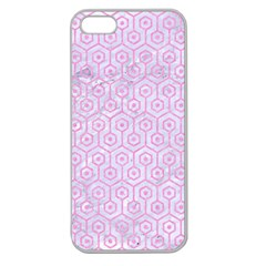 Hexagon1 White Marble & Pink Colored Pencil (r) Apple Seamless Iphone 5 Case (clear) by trendistuff