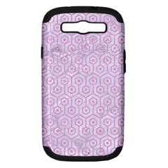 Hexagon1 White Marble & Pink Colored Pencil (r) Samsung Galaxy S Iii Hardshell Case (pc+silicone) by trendistuff