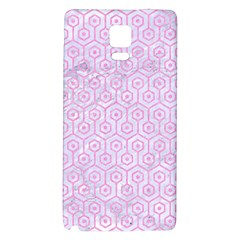 Hexagon1 White Marble & Pink Colored Pencil (r) Galaxy Note 4 Back Case by trendistuff