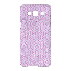 Hexagon1 White Marble & Pink Colored Pencil (r) Samsung Galaxy A5 Hardshell Case  by trendistuff