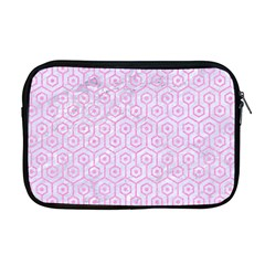 Hexagon1 White Marble & Pink Colored Pencil (r) Apple Macbook Pro 17  Zipper Case