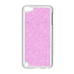 Hexagon1 White Marble & Pink Colored Pencil Apple Ipod Touch 5 Case (white)
